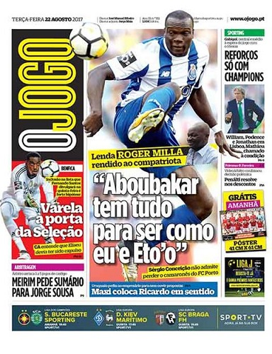 Le coach de Porto bloque Vincent Aboubakar
